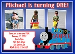 Custom Photo Birthday Invitations Thomas the Tank Engine Train #4