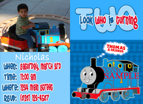 Thomas The Train Birthday Invitations gangcraftnet