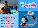 Custom Photo Birthday Invitations Thomas the Tank Engine Train #5