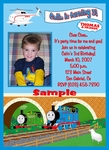 Custom Photo Birthday Invitations Thomas the Train Tank Engine #2