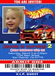 Custom Photo Birthday Invitations Ticket Hot Wheels #1