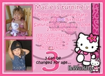 Custom Photo Birthday Party Invitation Hello Kitty 2