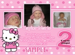 CUstom Photo Birthday Party Invitation Hello Kitty 3