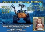 Custom Photo Birthday Party Invitations Disney Wall E