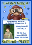 Custom Photo invitation Curious George #8