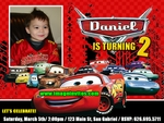 Disney Cars Photo Birthday Party Invitation Invite Card 14