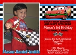 Disney Cars Photo Birthday Party Invitations Cards Invites 13