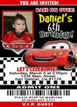 Disney Cars Ticket Invitation Photo Birthday #12