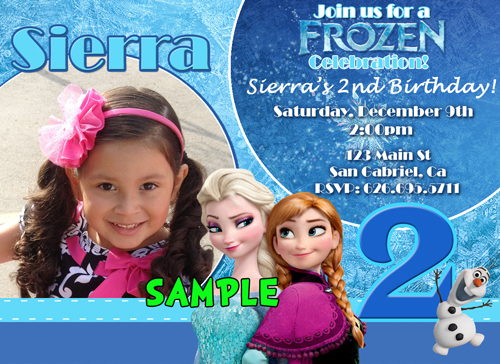 Personalized Frozen Birthday Invitations gangcraftnet – Personalized Disney Birthday Invitations