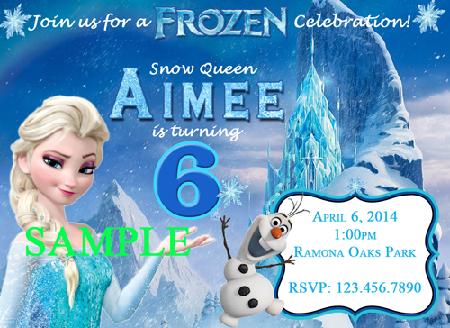 Disney Frozen Birthday Invitations gangcraftnet – Personalized Disney Birthday Invitations