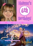 Disney Tangled Rapunzel Photo Birthday Invitations #3