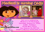 Dora the Explorer Photo Birthday Invitations Invites #19