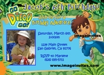 Go Diego Go Photo Birthday Invitation #1