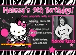Hello Kitty Photo Birhday Invitation #6