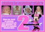 Photo Birthday Invitations Minnie Mouse Clubhouse Custom Cards Invites #7