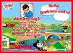Photo Birthday Invitations Thomas the Train Tank Engine #1