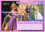 Tangled Rapunzel Disney Photo Birthday Party Invitations Personalized