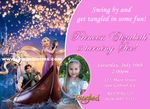 Tangled Rapunzel Disney Photo Birthday Party Invitations Personalized #2
