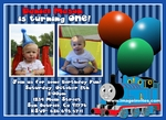 Thomas the Train Engine Photo Birthday Invitations Invites #6