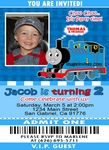 Thomas The Train Ticket Photo Birthday Invitation #7