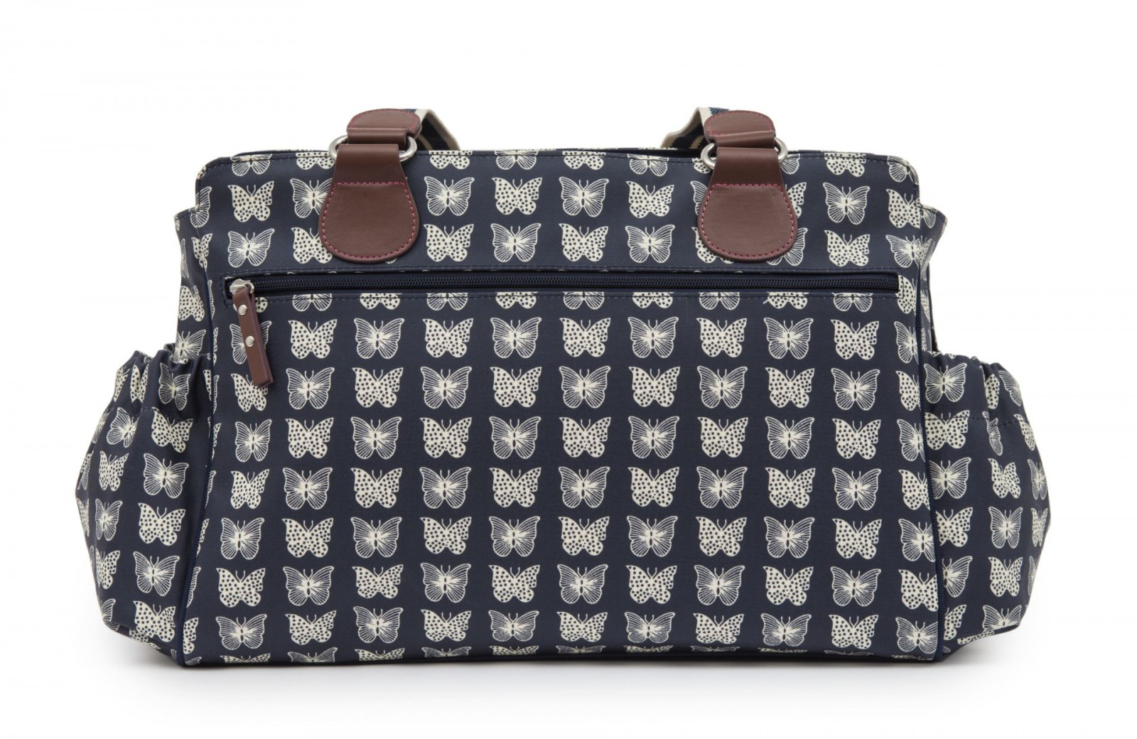 twice as nice twin diaper bag navy butterflies featured by. Black Bedroom Furniture Sets. Home Design Ideas