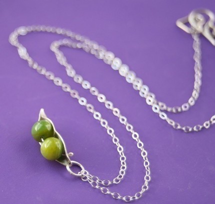 Two Peas In A Pod Necklace For Twins