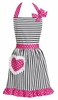 Dorothy Pink Ruffled Hostess Apron