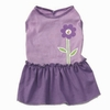 Chloe's Flower Puppy Dress - Purple