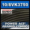 10-8VK3750 Bando Power Ace Aramid Combo, 10 Rib.