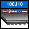 100J10 Poly-V Belt (Micro-V): Metric 10-PJ254 Motor Belt.