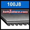 100J8 Poly-V Belt (Micro-V): Metric 8-PJ254 Motor Belt.