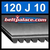 120J10 Poly-V Belt (Micro-V): Metric 10-PJ305 Motor Belt.