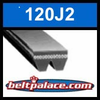 120J2 Poly-V Belt (Micro-V): Metric 2-PJ305 Motor Belt.