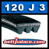 120J3 Poly-V Belt (Micro-V): Metric 3-PJ305 Motor Belt.