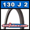130J2 Poly-V Belt (Micro-V), Metric 2-PJ330 Motor Belt.