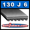 130J6 Belt, Poly-V Belts: J Section, PJ330 Motor Belt. 13 inch (330mm) Length