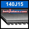 140J15 Poly-V Belt (Micro-V): Metric 15-PJ356 Motor Belt.