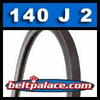 140J2 Poly-V Belt, Metric 2-PJ356 Motor Belt.