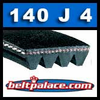 140J4 Poly-V Belt, Metric 4-PJ356 Drive Belt.