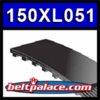 """150XL051 - Replacement Timing belt. 75 Teeth, 15"""" Pitch Length. 1/2"""" Wide."""