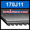 170J11 Poly-V Belt (Micro-V): Metric 11-PJ432 Motor Belt.