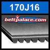 170J16 Poly-V Belt (Micro-V): Metric 16-PJ432 Motor Belt.