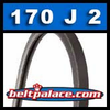 170J2 Poly-V Belt, Metric 2-PJ432 Motor Belt.