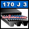 170J3 Poly-V Belt (Micro-V): Metric 3-PJ432 Motor Belt.