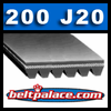 200J20 Poly V Belt. Metric PJ508-20 Ribs.