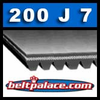 200J7 Poly-V Belt (Micro-V): Metric 7-PJ508 Drive Belt.