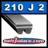 210J2 Poly-V Belt (Micro-V): Metric 2-PJ533 Motor Belt. 21� L, 2 Ribs.