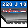 "220J10 Poly-V Belt. 22"" (559mm) Length. 10 Ribs. Metric belt 10PJ559."