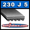"230J5 Poly-V Belts: 23"" Length, 5 Ribs. Metric 5-PJ584 Belt"