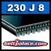 230J8 Poly-V Belt, Metric 8-PJ584 Drive Belt.